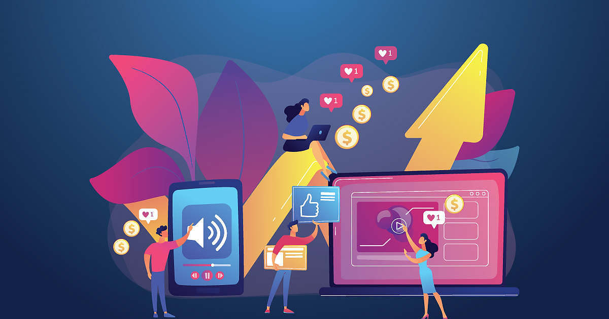 Marketers using various platforms