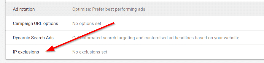 ip exclusion in adwords
