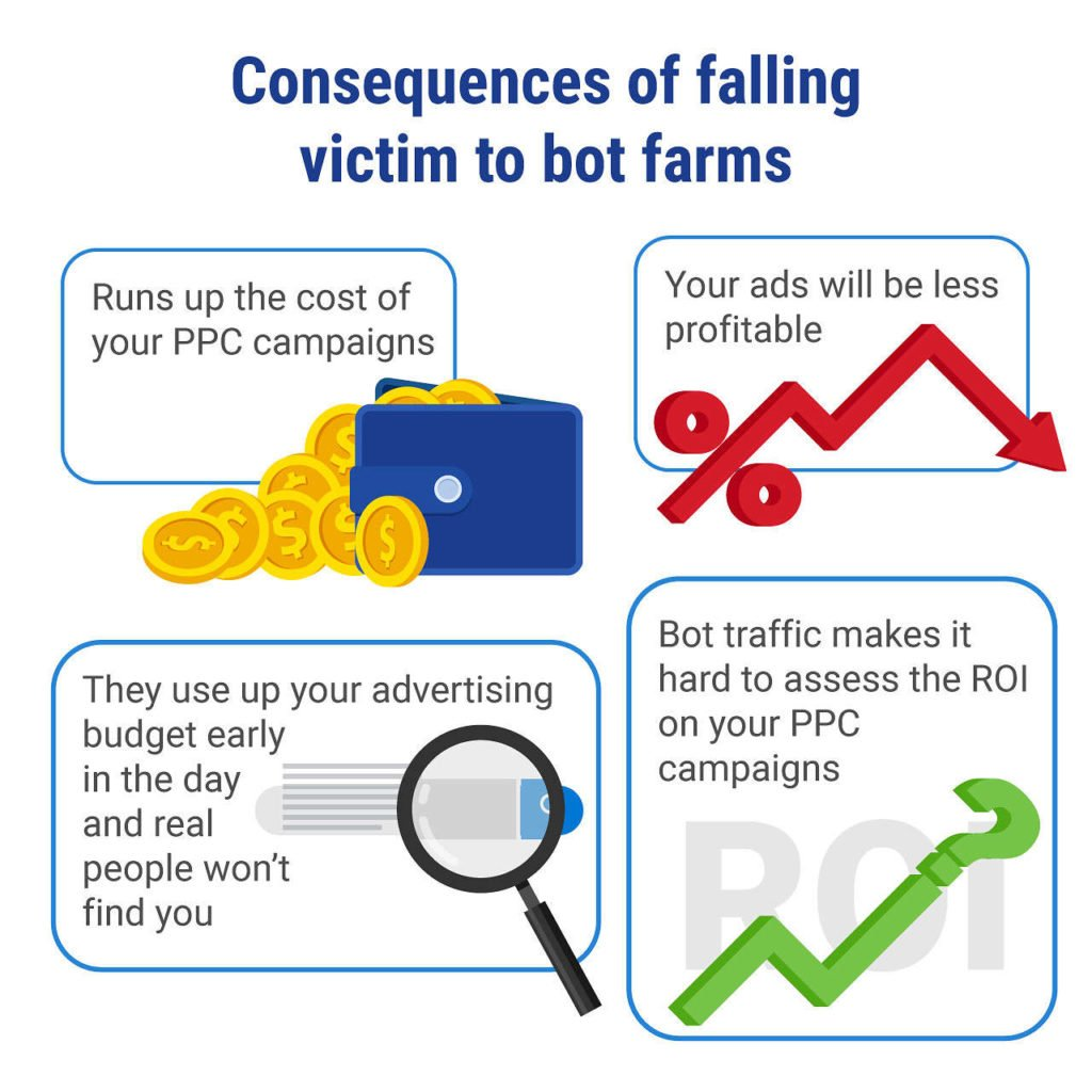 consquences of dealing with bot farms
