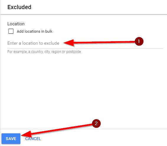 Save your target exclusions to block bad and invalid traffic IVT