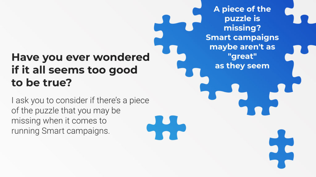 Maybe google smart campaigns aren't as great as they seem