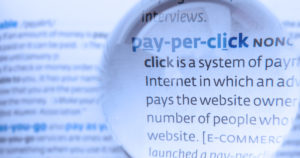 People discussing ecommerce with a Pay Per Click background