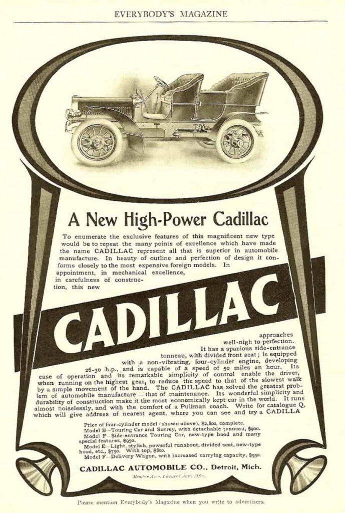 vintage cadillac ad