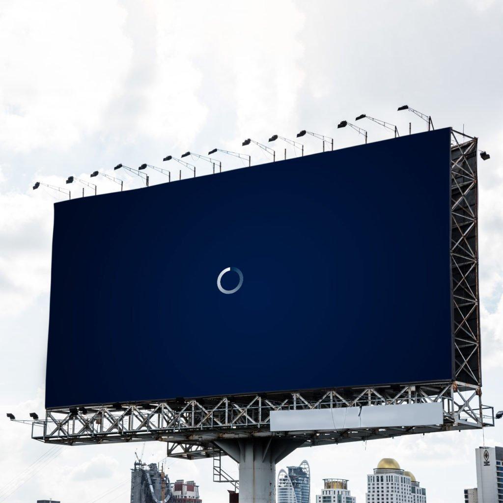 Guerilla marketing billboard