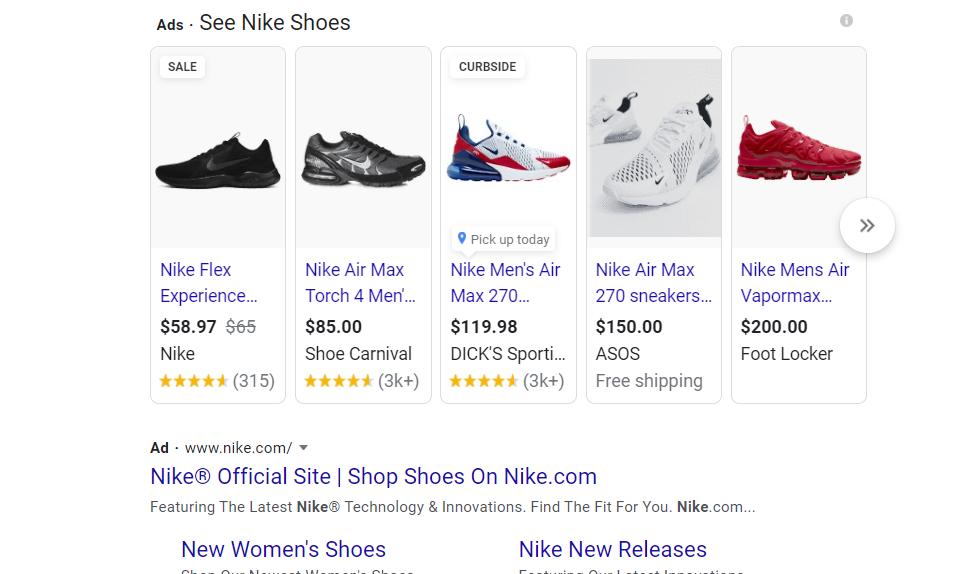 Google Shopping Ad Example