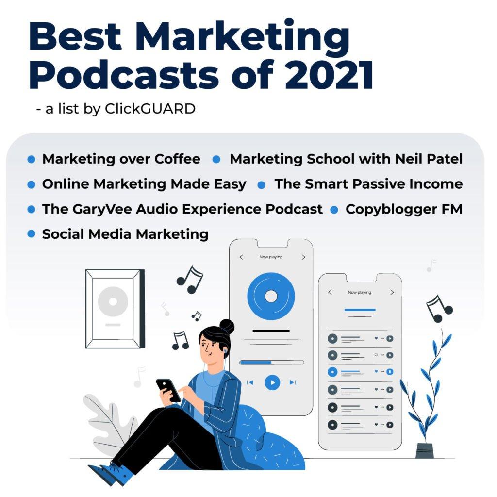 best marketing podcasts 2021