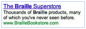 bad google ad example