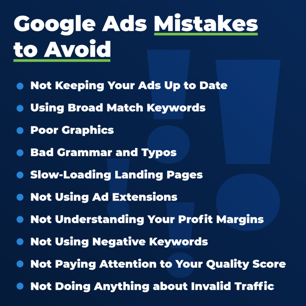 Google Ads Examples to Avoid