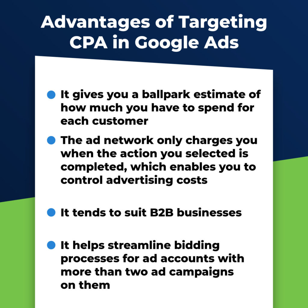 advantages of targeting CPA