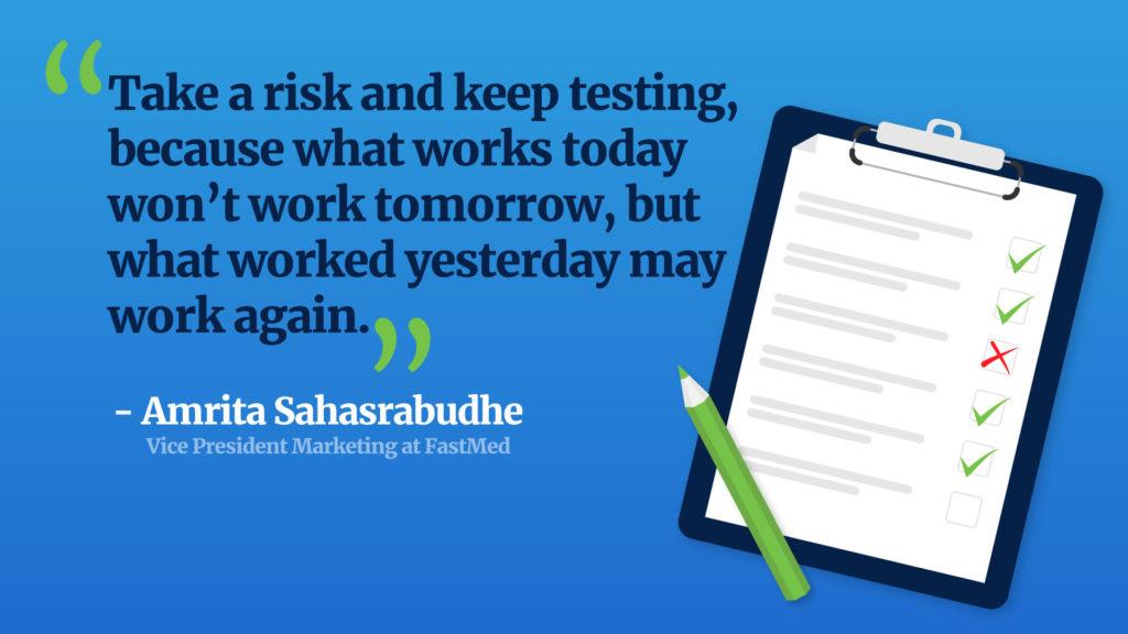 amrita sahasrabudhe quote on risks