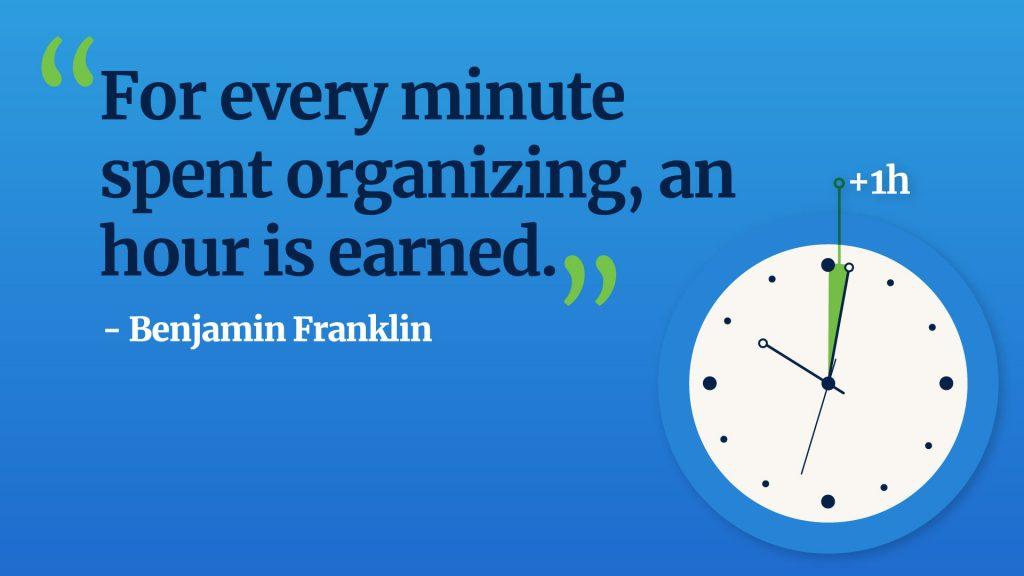 Benjamin Franklin quote planning