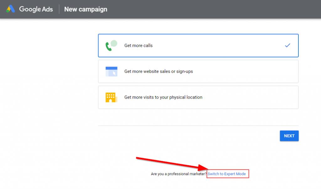 Google Ads Expert Mode