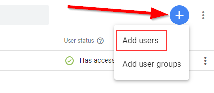 add users to GTM
