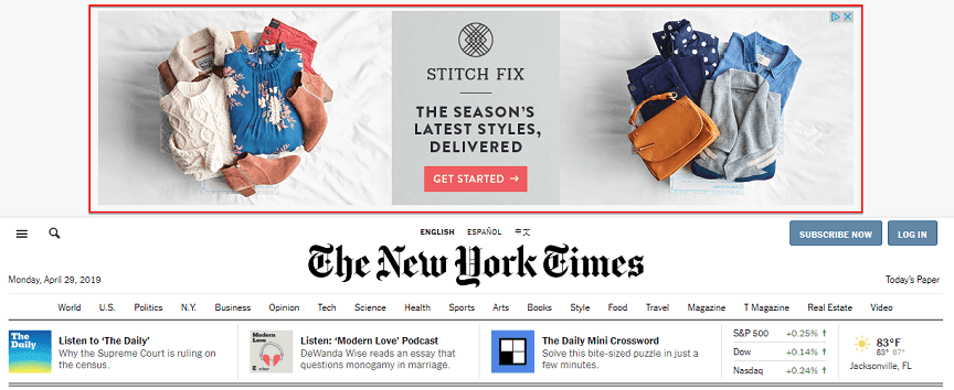 Google Ads design example