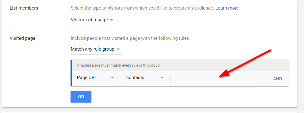 Google Ads Setup Page Visitors