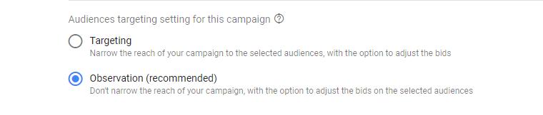 Google Ads Targeting vs Observing