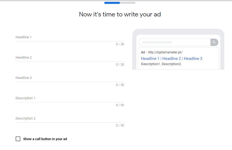 write ad Google Smart Campaigns