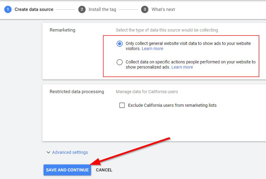 Google Remarketing Data