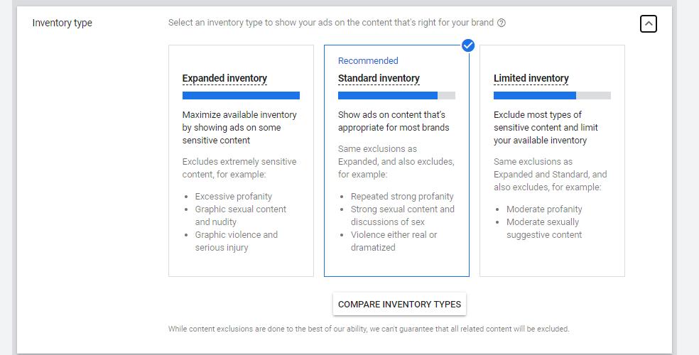 Google Video Ads Inventory