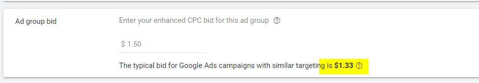 Google Display ad group bid