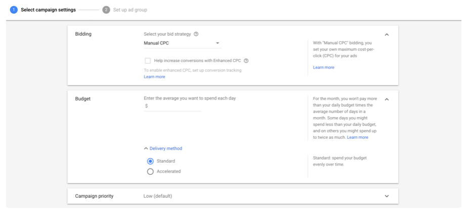 Google Shopping Campaign Bidding setup