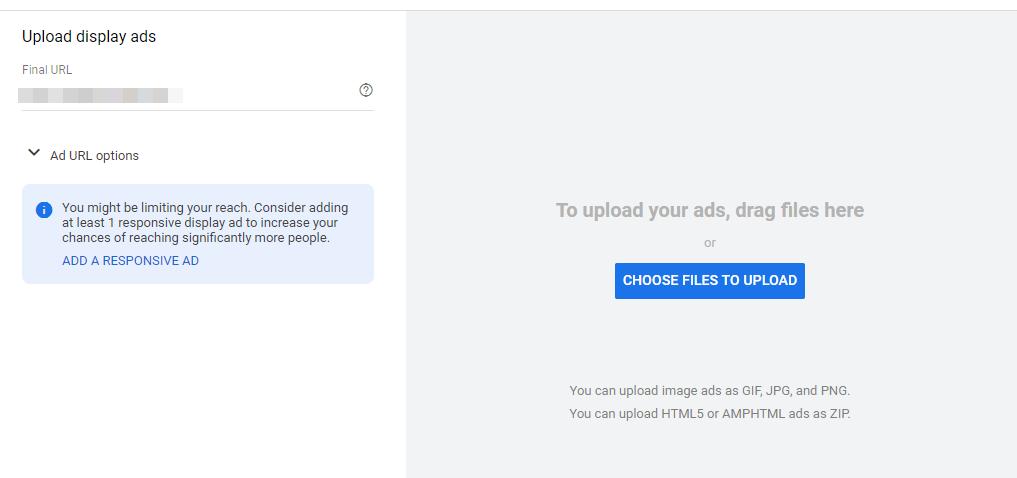 Google Display upload ad