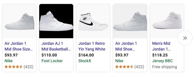Data Rich Google Shopping Ad