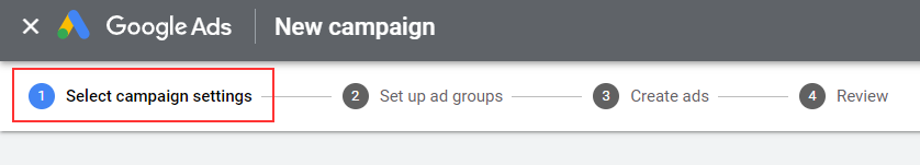 Setting up Google Search campaign