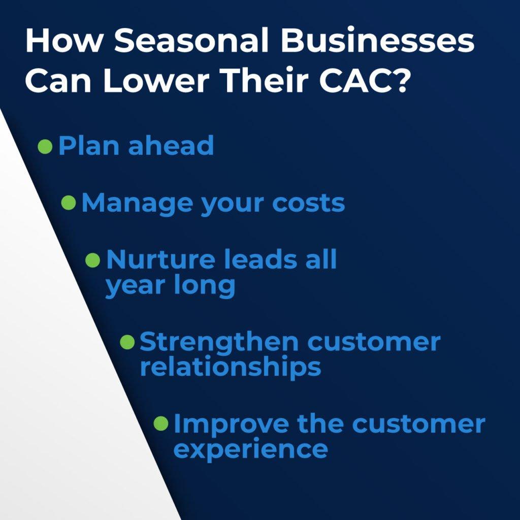 seasonal business low CAC