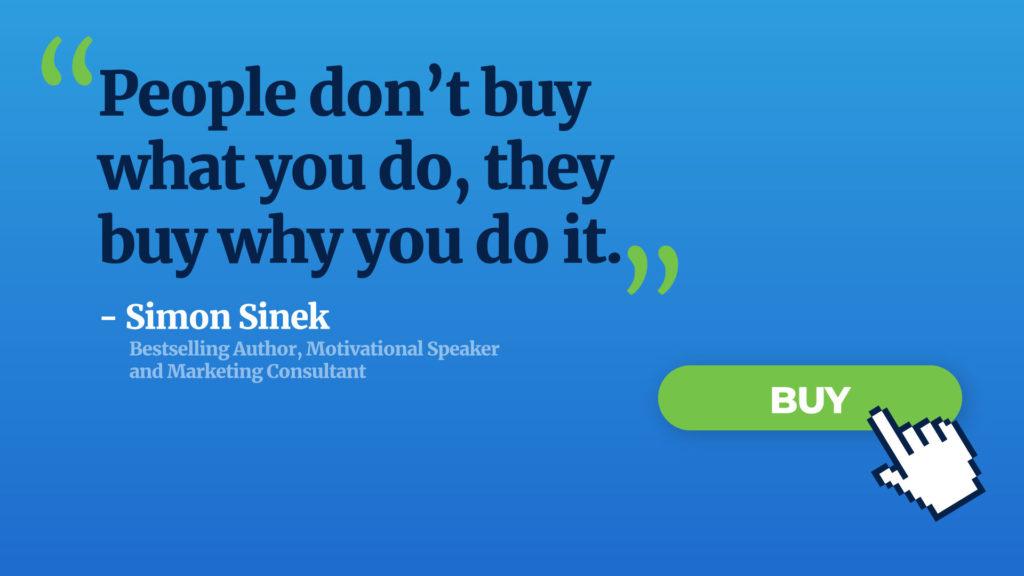 Simon Sinek quote buying