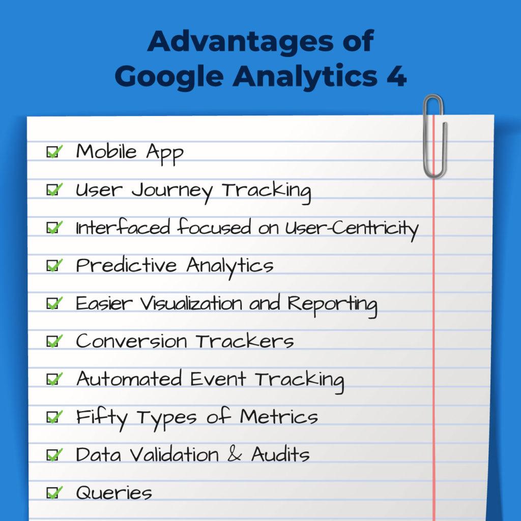 Pros of Google Analytics 4