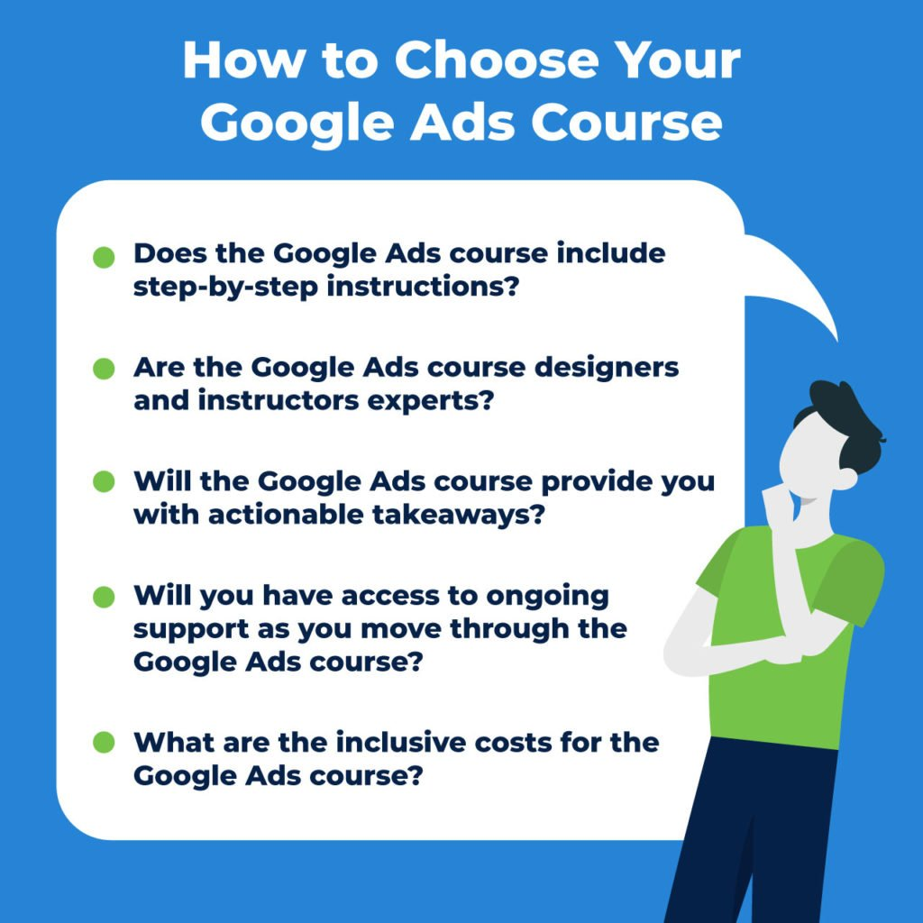 how to choose Google Ads course