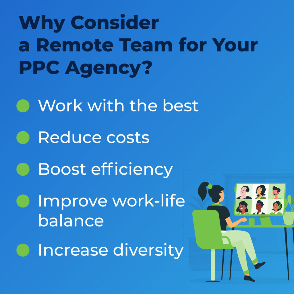 why remote team for PPC agency