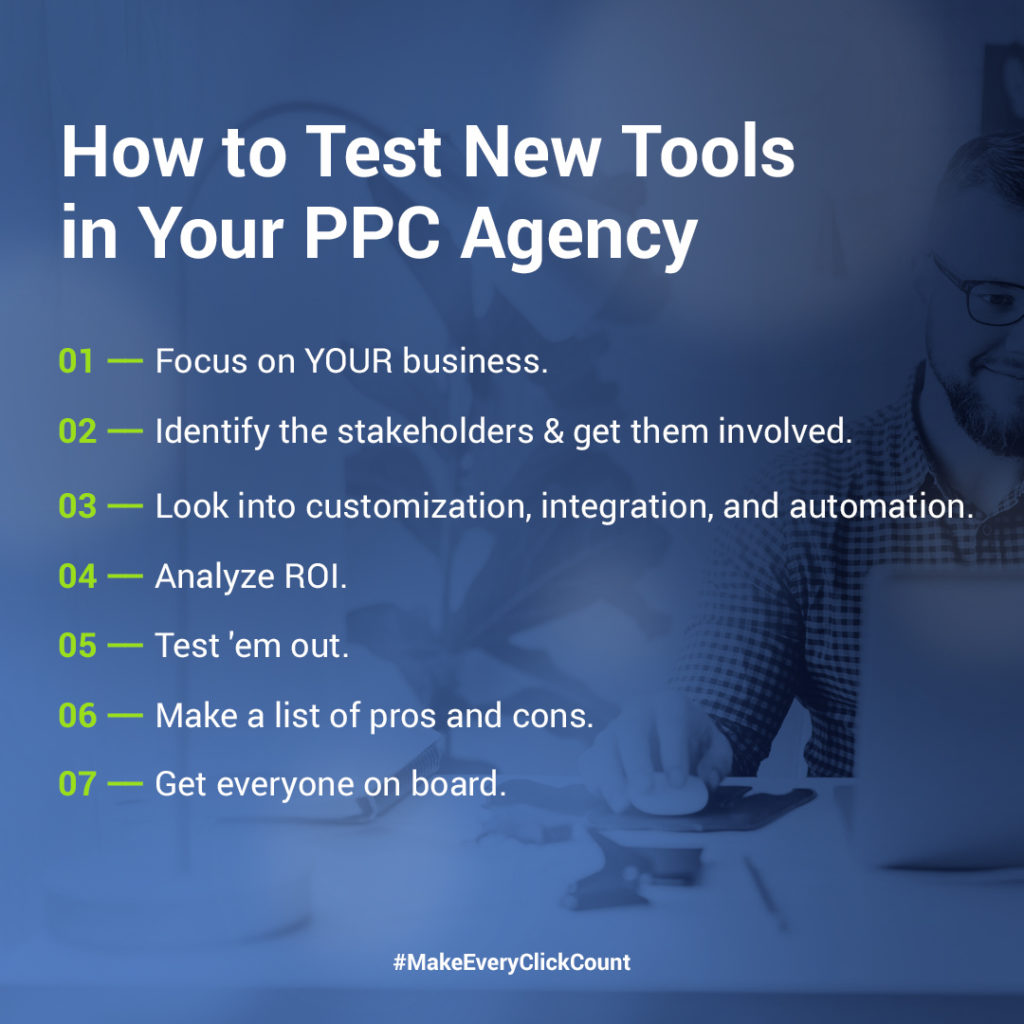 testing tools for PPC agency
