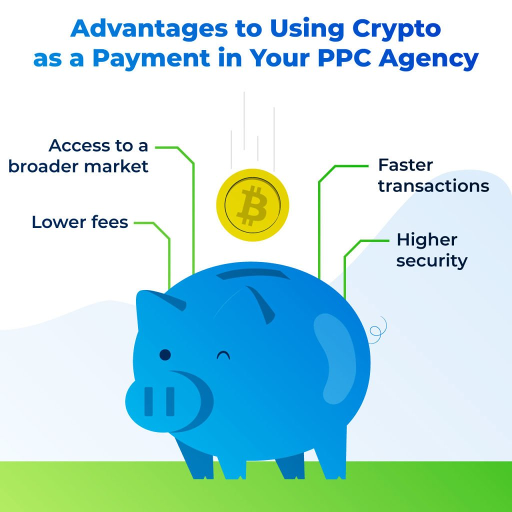 advantages to using crypto as payment for your PPC agency