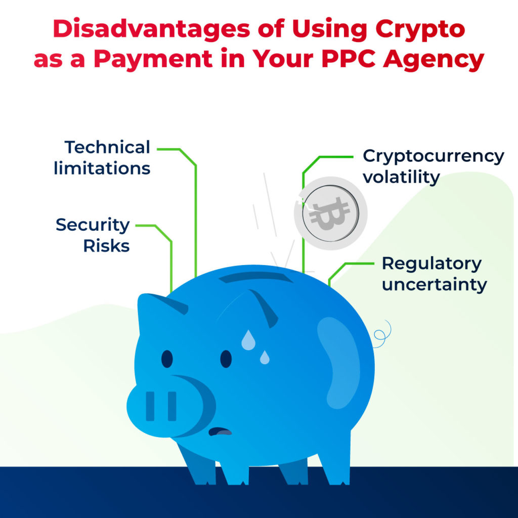 disadvantages to using crypto as payment for your PPC agency