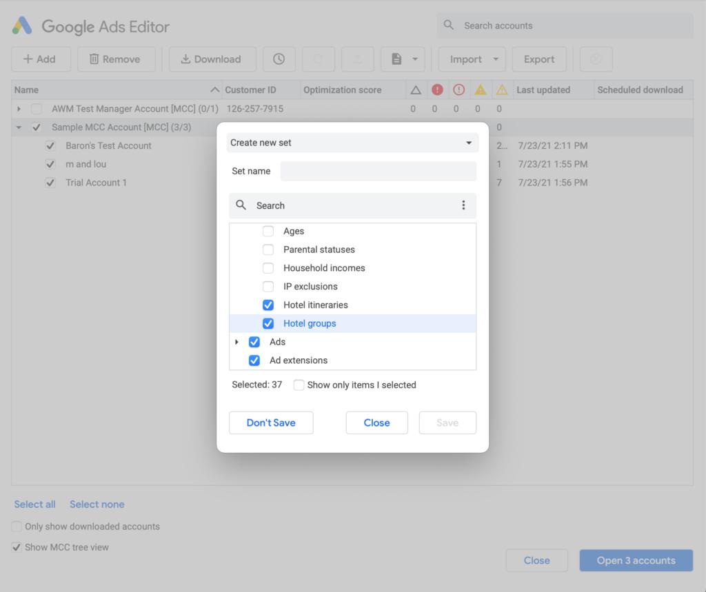 Google Ads Editor V1.7