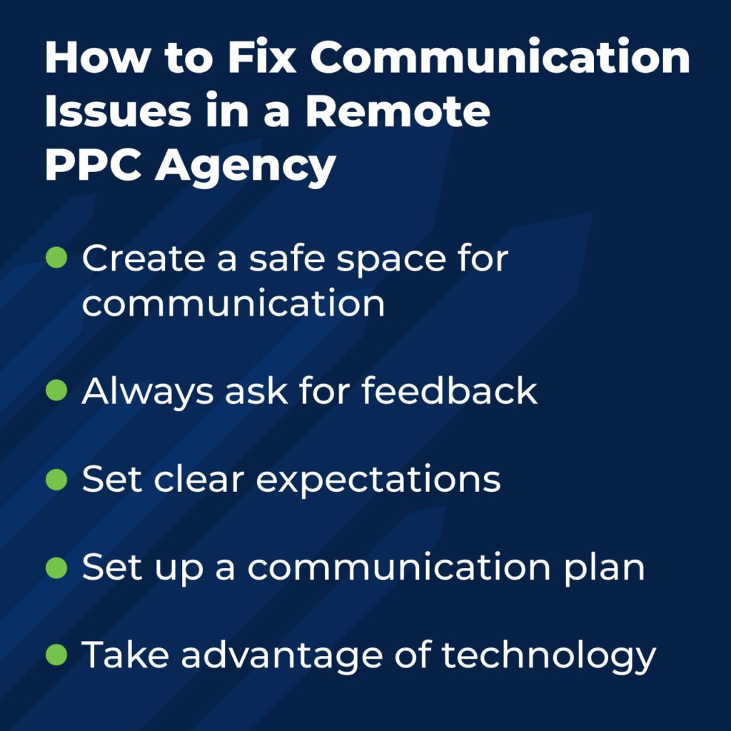 How to fix communication issues in a remote PPC agency