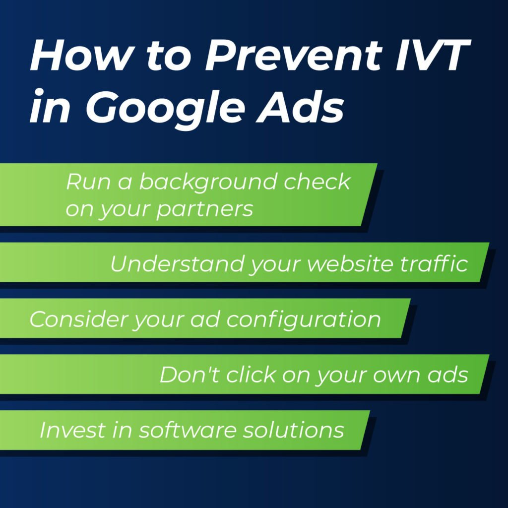 how to prevent IVT in Google Ads