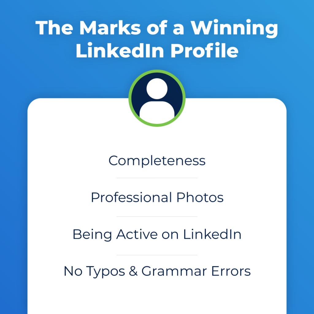 marks of a winning linkedin profile
