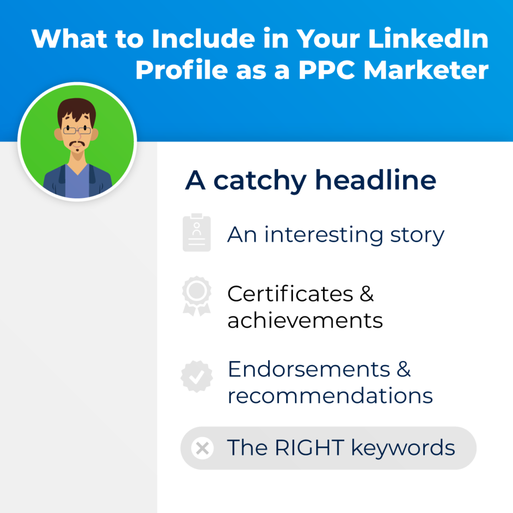 what to include in your linkedin profile as a PPC marketer