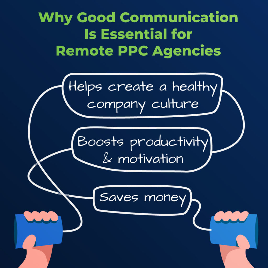 why good communication is essential for remote PPC agencies